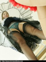 Leopard clad maiden has ordered one more pantyhose gallery for herself